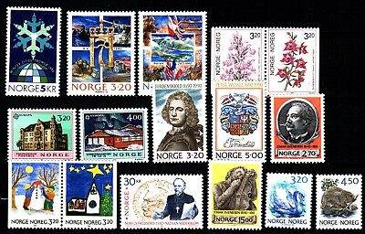 Norway 1990 Commemoratives (16) Mint Never Hinged