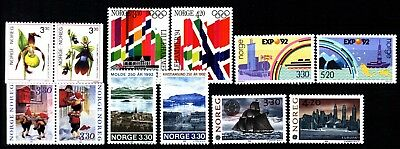 Norway 1992 Commemoratives (18) Mint Never Hinged