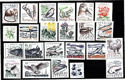 Sweden Nature Commemoratives (19) Mint Never Hinged
