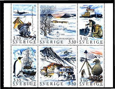 Sweden 1989 Polar Research Pane (20) Mint Never Hinged