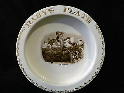 Vintage Baby's Plate ~ Their First Day Chicks Baby Plate Bowl