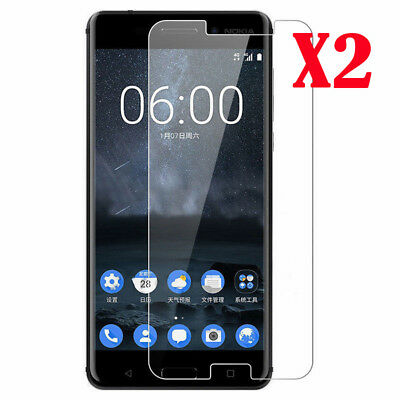 For Nokia 6 5 3 8 2PCS Premium 9H Tempered Glass Screen Protect Waterproof Cover
