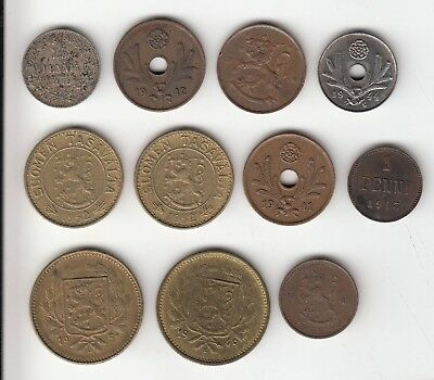 FINLAND COINS  x11  ALL DIFFERENT      48Q         BY COINMOUNTAIN