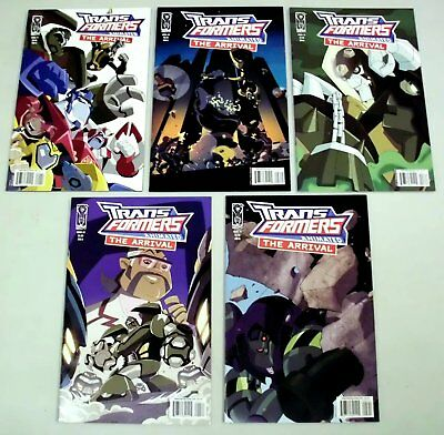 Transformers Animated: The Arrival #1-5 Comics Complete Set  IDW 2008  VF/NM!