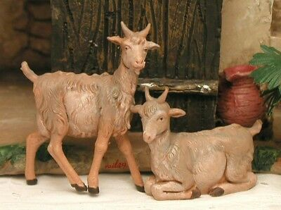 "Fontanini Depose Italy 5"" 2Pc Goat Village Nativity Animal Set 54030 New No Box"