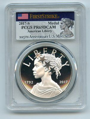 2017 S Silver American Liberty Medal Proof PCGS PR69DCAM First Strike
