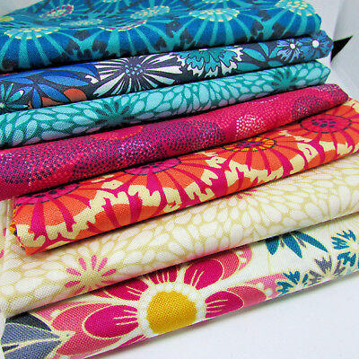 Sundance florals for Makower 100% cotton patchwork & quilting fabric per FQT