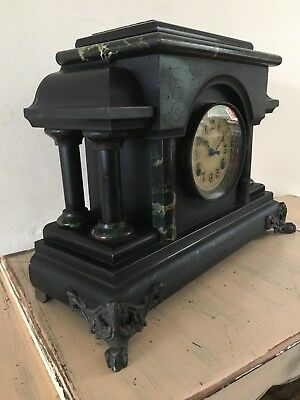 Large Antique American Striking Mantle Clock Jerome & Co