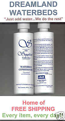2 LG BLUE MAGIC 8 oz. Sapphire Waterbed Conditioner-Buy 2 Sets Get 1 Set FREE