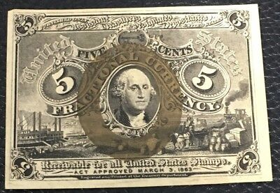 Fractional Currency FR 1233 CU 5 Cent P-35
