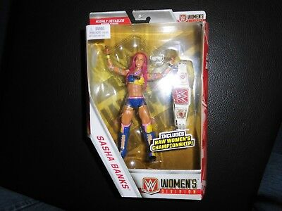 Mattel WWE Elite Wrestlingfigur  SASHA BANKS,Walgreen Exclusive, m. Customgürtel