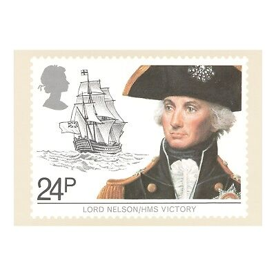 Admiral Lord Nelson - Hms Victory, Maritime Heritage Royal Mail Phq 60 Postcard