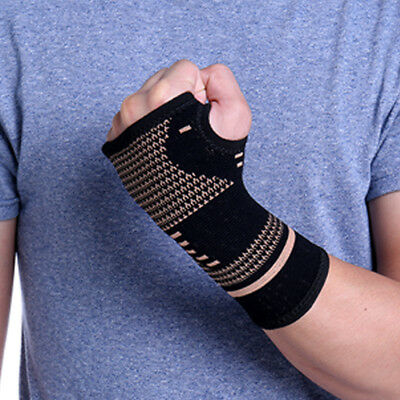 Copper CFR Joint Copper Wrist Support Compression Sleeve Sprains Carpal Tunnel