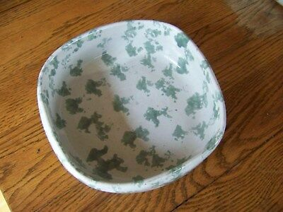"""Bybee Pottery 7 1/2"""" Square Top, Round Bottom, 2 1/4 Tall"""