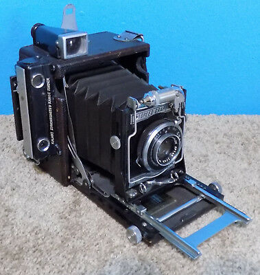 GRAFLEX 2X3 SPEED GRAPHIC Optar 101mm F/4.5 LENS & 120 Film Holder Very Nice!