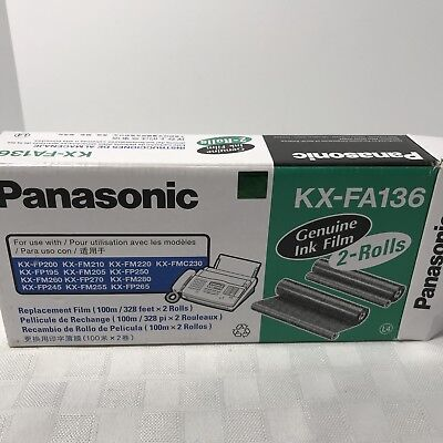 Panasonic KX-FA136 Fax Machine Ink Film NEW SEALED
