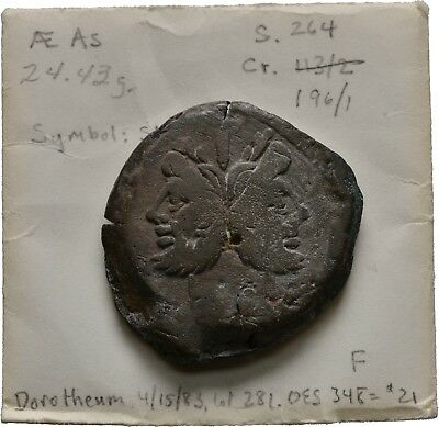 Lanz Roman Republic Janus As Anonymous Galley Prow Star Rome Roma Ae ±Dfg527