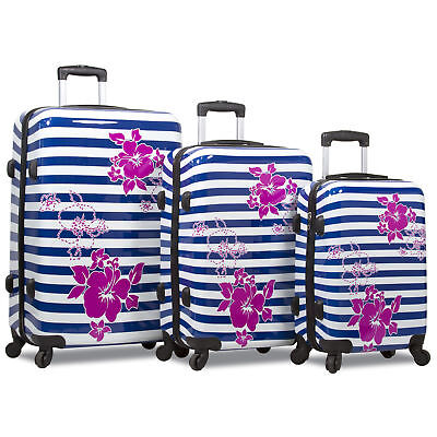 a0818cd3c ROLITE 3 PIECE Hardcase Spinner Super Lightweight Luggage Set MOSAIC ...