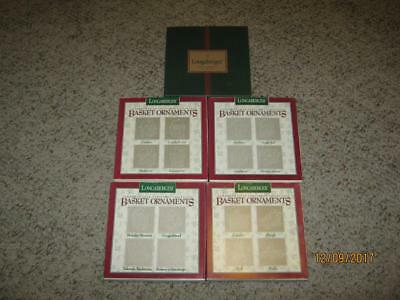{20} Longaberger Christmas Basket Pewter Ornaments-5 Sets-{New In Box}
