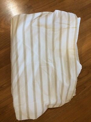 Land Of Nod Crib Skirt Tan And Cream Neutral NWOT