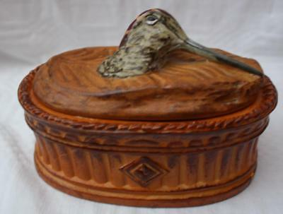 Small Vintage French Pillivuyt Game Tureen Woodcock Bird On Lid 15cm Wide
