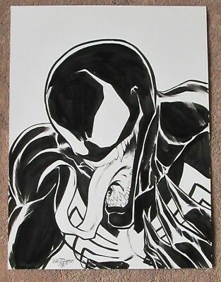 "SCOTT DALRYMPLE 9"" X 12"" Signed and dated 2014 VENOM Original Art -Sketch"