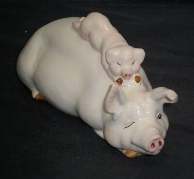 "Vintage Beswick ""Piggy Back"" Pig & Piglet Ornament Collectable 2746"