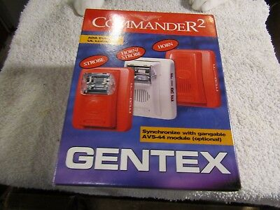 Gentex Commander 2 75cd Strobe Model GES24-75WR 24VDC Wall Red New Stock