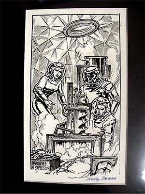 KELLY FREAS HEE CHEE # 24a PRELIMINARY DRAWING GATEWAY TRIP FREDERIK POHL