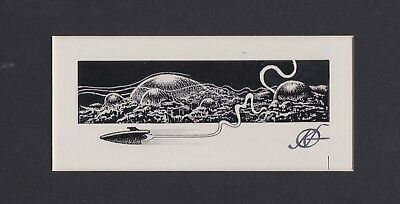 KELLY FREAS HEE CHEE # 18a PRELIMINARY  DRAWING GATEWAY TRIP FREDERIK POHL