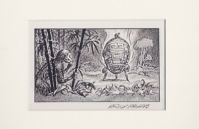 KELLY FREAS HEE CHEE #  2a PRELIMINARY DRAWING GATEWAY TRIP FREDERIK POHL