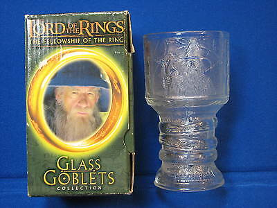 Lord of the Rings Gandalf Fellowship Glass Goblet Burger King 2001 Light Up