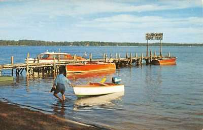 Culver Indiana Lake Maxinkuckee Waterfront Vintage Postcard K84102