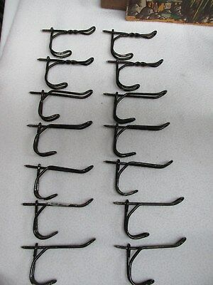Vintage Lot Of 14 Twisted Metal Hooks