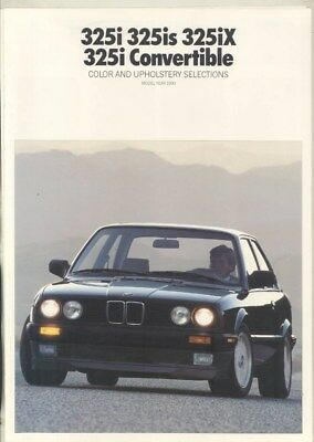 1990 BMW 325i 325is 325iX Paint Color & Upholstery Brochure wy9761