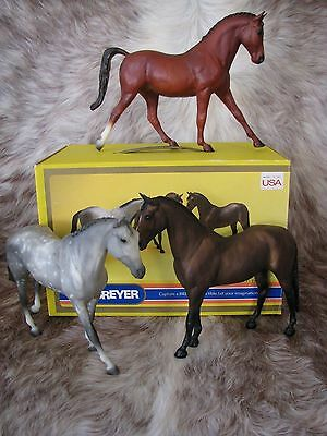 Vintage 1987 Breyer Us Equestrian Team Collection #3035~3 Horses/box~Made In Usa