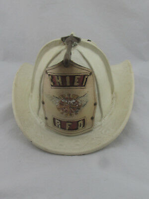 Vintage Leather Cairns & Brother Rockaway NJ Fire Dept Chief Helmet