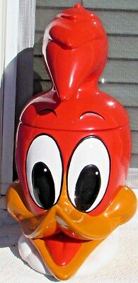 "Vintage 1967 Walter Lantz Productions WOODY WOODPECKER Ceramic 15"" Cookie Jar"