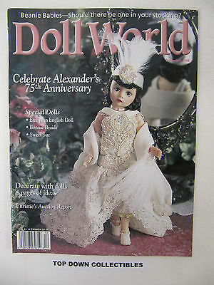 Doll World Magazine  December 1998   Christies Auction Report/Alexanders Dolls