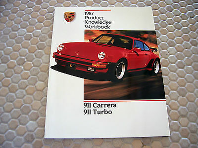 Porsche Official 911 Series Technical Product Knowledge Brochure Manual 1987 Usa