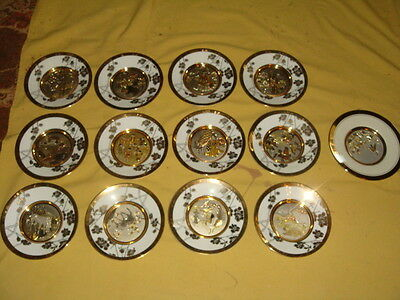 Set of 12 Hamilton Collection Plates - ETERNAL WISHES OF GOOD FORTUNE + 1 More