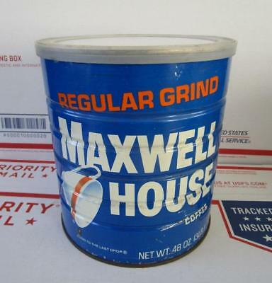 SEALED NOS 1970's VINTAGE MAXWELL HOUSE COFFEE 48 OZ. CAN