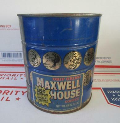 SEALED NOS 1970's VINTAGE MAXWELL HOUSE COFFEE 48 OZ. SPECIAL CAN