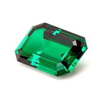 New Lannyte Lab Green Emerald 2.50 cttw Loose Stone 9mm x 7mm