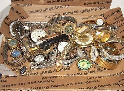 Vintage Lot of Watches Fossil Timex watches for repair parts 2 to 3 lbs.