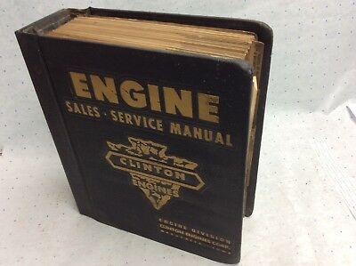 Vintage 1962 Clinton Engine Large Manual Sales Manual Price List