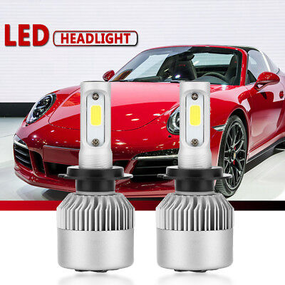 H7 20000LM 200W LED Headlight Kit Bulbs Low Beam High Power 6000K-6500K White