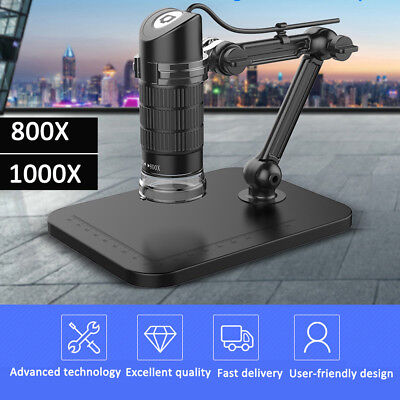 800X/1000X Touch Photo Digital Microscope USB 8 LED Endoscope Magnifier Video