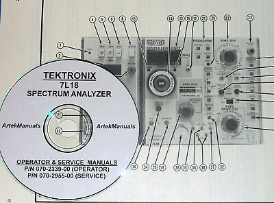 TEKTRONIX 7L18 Ops + Service Manuals Later 070-2955-00 Version 2 volumes