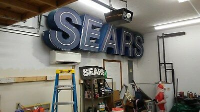 SEARS sign Real letters off a closed store, collectible history